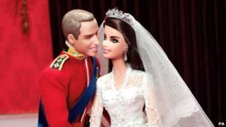 威廉和凯特芭比娃娃