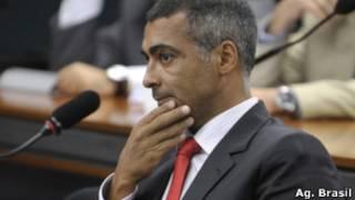 Romário na Câmara dos Deputados, em foto de arquivo de 2011 (Ag. Brasil)