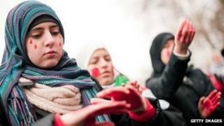 Protesta contra el gobierno sirio