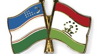 پرچم های تاجیکستان و ازبکستان