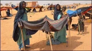 Sansanin 'yan gudun hijira a Mali