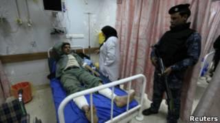 Раненный полицейский в Ираке