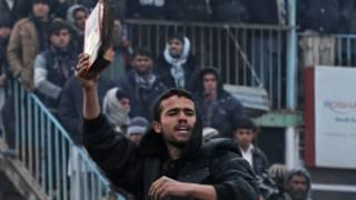 Demo menentang pembakaran Quran