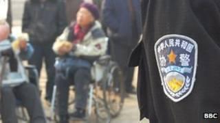 Nhân viên an ninh và người biểu tình tại Bắc Kinh