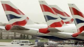 Indege ya nyuma ya British Airways izava Entebbe kuwa 03/10/2015.
