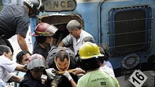 Choque de tren en Buenos Aires
