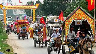 Người Khmer mừng năm mới ở An Giang