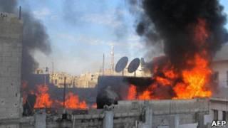 Bombardeiro em Homs. AFP