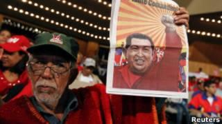 Acto de apoyo a Chávez