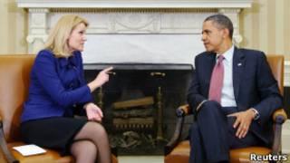 أوباما ورئيسة وزراء الدنمارك