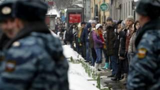 من تظاهرة موسكو