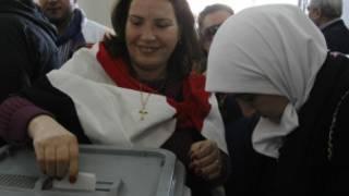 الاقتراع على الدستور الجديد في سوريا