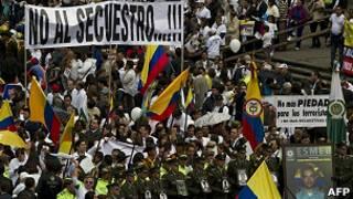 Protestos na Colômbia (AFP)