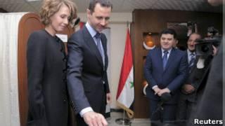 الأسد يقترع الأحد