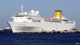 意大利郵輪「阿萊格拉海岸號」(資料照片,10/06/2011)