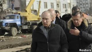 Ông Putin đi tham Astrakhan, nơi xảy ra vụ nổ hơi ga chết người