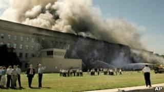 Клубы дыма над Пентагоном 11.09.2001