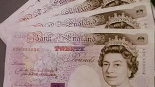 أوراق نقدية من فئة 20 جنيها استرلينيا