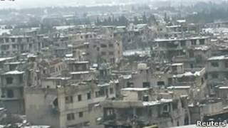 Репортаж о Баба-Амр на сирийском ТВ