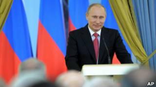 Putin discursa em evento realizado na Rússia, no sábado (AP)