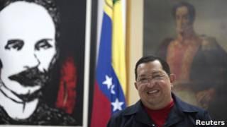 Hugo Chávez, em Havana, Cuba. Reuters
