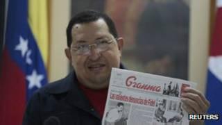 هوگو چاوز در روز شنبه