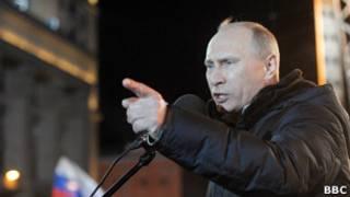 Путин на Манежной