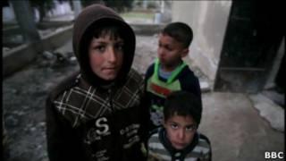 بعض الفارين من حمص