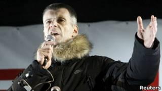 Михаил Прохоров на митинге оппозиции на Пушкинской площади