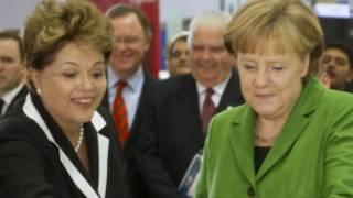 Tổng thống Brazil Dilma  Rousseff và Thủ tướng Đức Angela Merkel