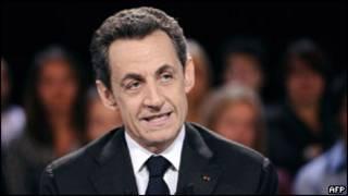 الرئيس الفرنسي، نيكولا ساركوزي