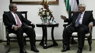 وزير الخارجية الأردني والرئيس الفلسطيني