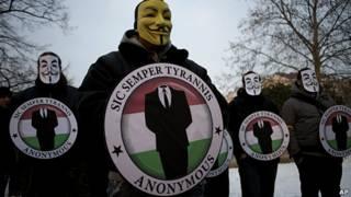 presuntos integrantes de la red anonymous