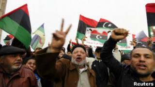Митинг в Триполи против федерализации Ливии 9 марта 2012 года