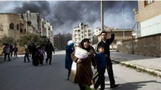 سوريون فارون من ادلب