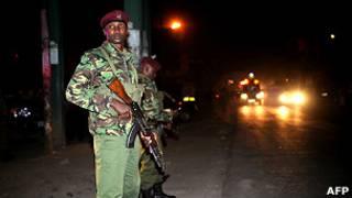 Военные на улице в Найроби