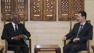 لقاء عنان والأسد