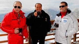 Путин,Берлускони,Медведев