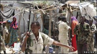 جندي صومالي في مقديشو