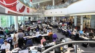 غرفة أخبار بي بي سي