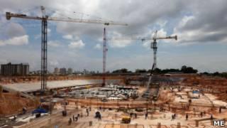 Obras na Arena Amazônia, em Manaus (crédito: Ministério do Esporte)