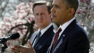 ديويد کمرون و باراک اوباما در کاخ سفيد