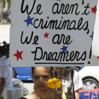 Grupo defende legalização de imigrantes.   Foto: AP