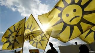 protestas por la energía solar