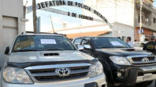 Carros de luxo apreendidos. | Foto: Ministério de Justiça e Segurança da Província de Buenos Aires