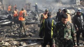 شام میں دھماکے کی فائل فوٹو