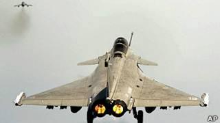 Avión de combate Rafale de las Fuerzas Armadas francesas.