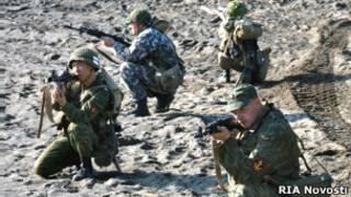 Учения российских морских пехотинцев