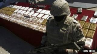 مواد مخدر ضبط شده در مکزیک
