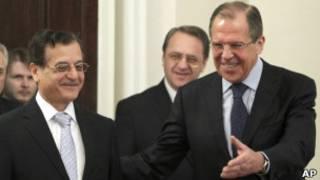 Сергей Лавров и Аднан Мансур